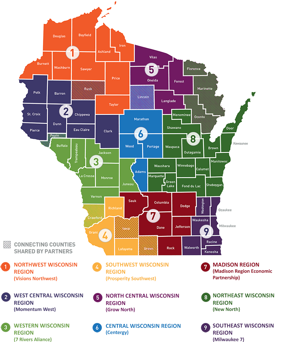Start In Wisconsin Region Map